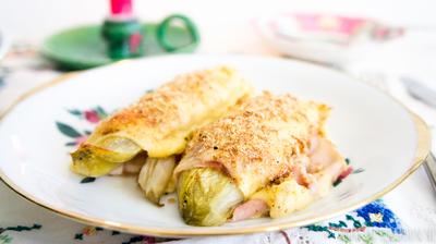 Recept: Witlof met ham en kaas