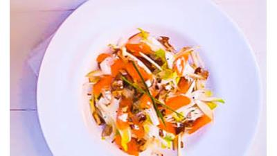 Recept: Pittige witlofsalade