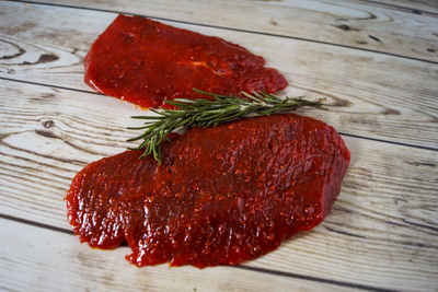 Steak (rode marinade)